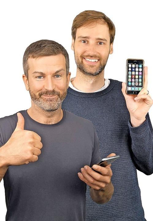 Die Erklär-Experten Andreas Dautermann (links) und Kristoffer Braun  | Foto: Levato UG