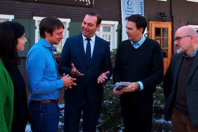 Bundestagsabgeordneter Felix Schreiner besucht das Hofgut Himmelreich