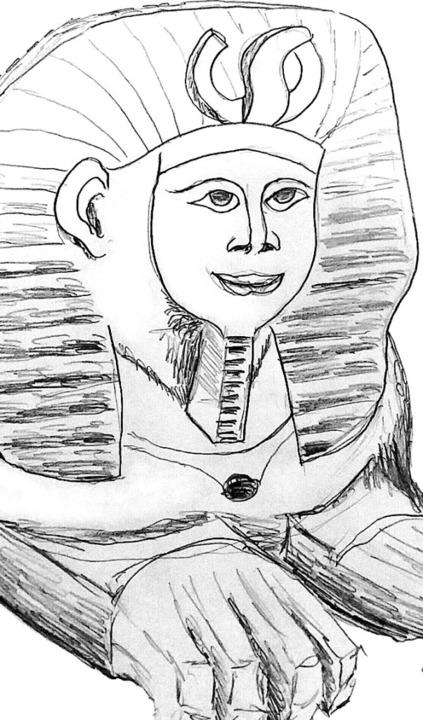 """""""Sphinx"""" von Eva Stoiber u...noth und Pierluigi Orler (von links).     Foto: Touristinformation Bernau"""