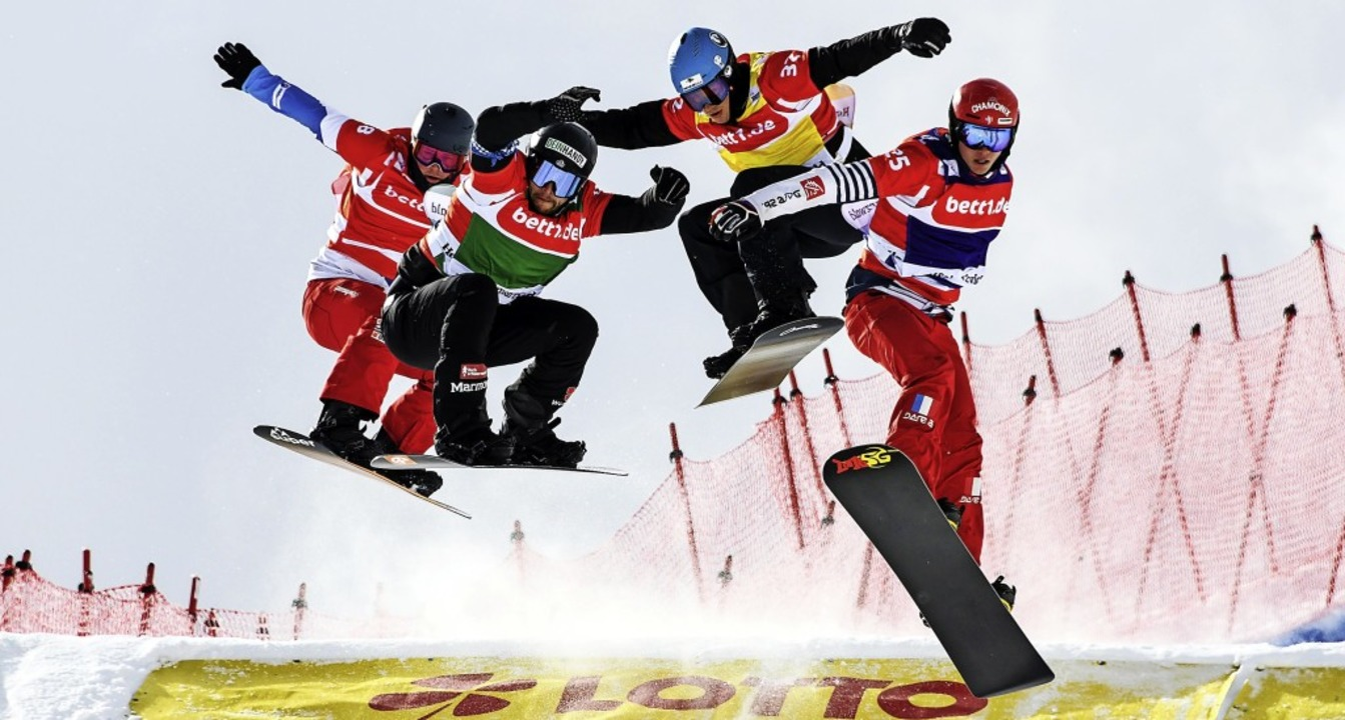 Boardercross-Champions im Anflug am Fe...17;s zwei spektakuläre Flugpassagen.    | Foto: Patrick Seeger