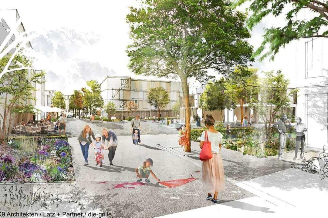 So könnte laut städtebaulichem Entwurf der Stadtteil Dietenbach aussehen.  | Foto: K9 ARCHITEKTEN  GmbH