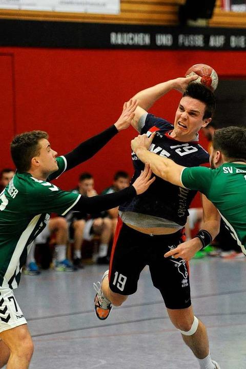 Patrick Bertsch (HTV) im Spiel gegen den SV  Zunsweier.  | Foto: Pressebüro Schaller