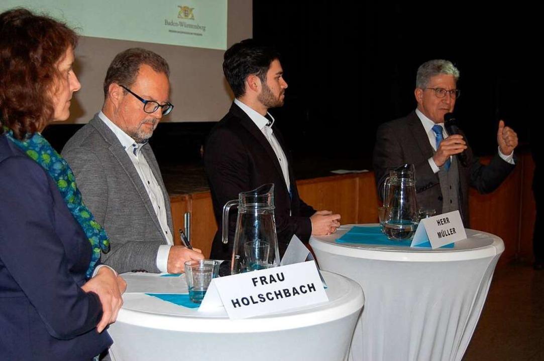 Oberbürgermeister Wolfgang G. Müller (...hbach, Jürgen Kaiser und Dennis Müller  | Foto: Mardus Adler/RP
