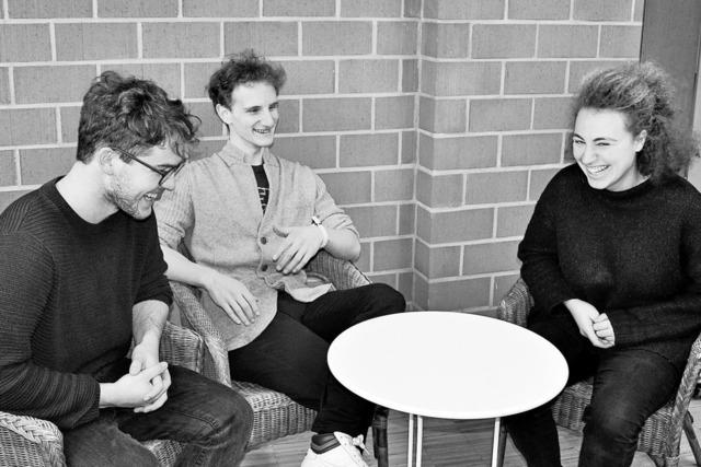 Drei Nachwuchsmusiker spielen im Depot K.