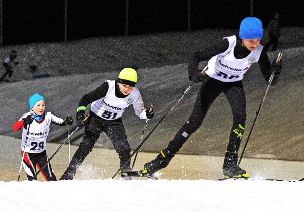 Kampf um Platzierungen und Sekunden au... Laurenz Weis (links) von der SZ Brend  | Foto: Wolfgang Scheu