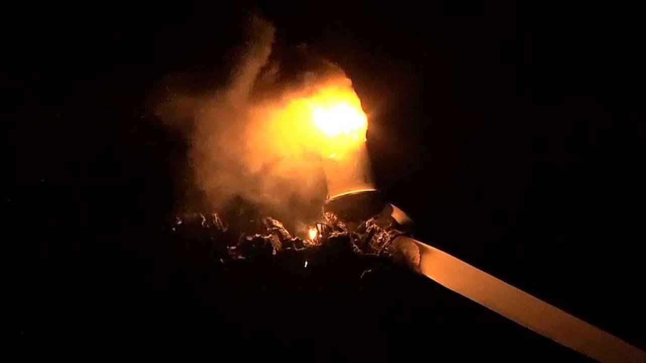 Auf dem Langenhard brennt eine Windkraftanlage.  | Foto: kamera24.tv