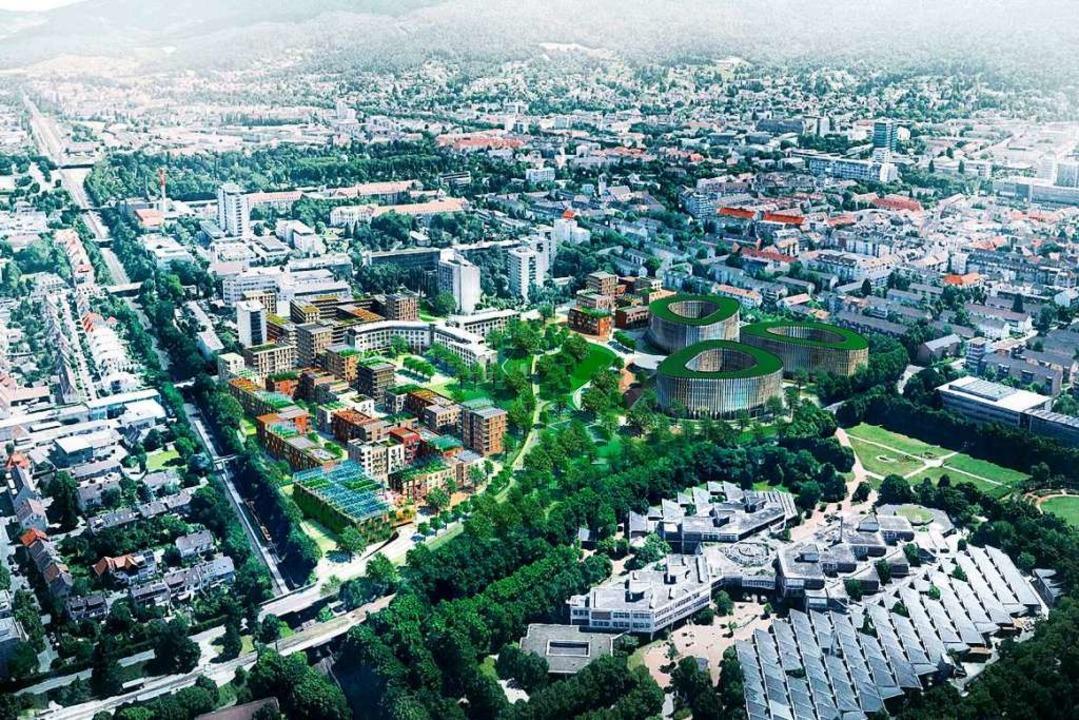 Blick von Süden auf das Baugebiet Kleinescholz    Foto: Dietrich / Untertrifaller Architekten