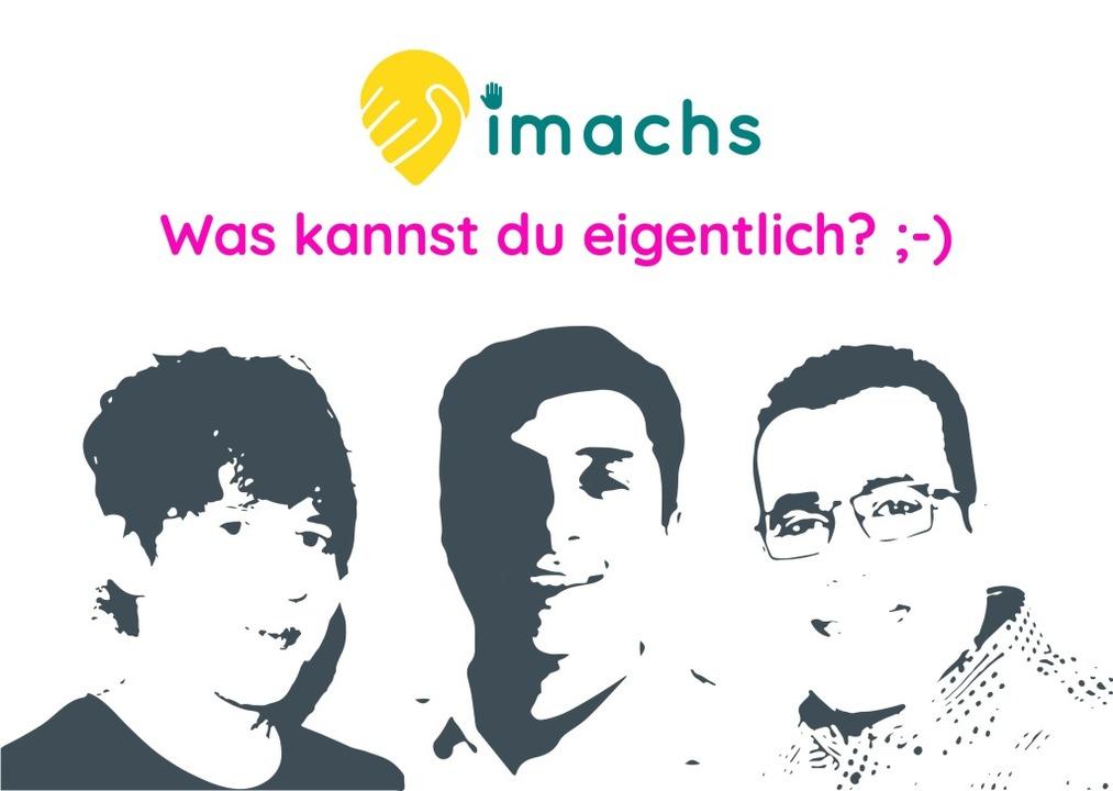 "Dominic Lammer, Amine Cherrered und Ra...e App ""imachs"" entwickelt.    Foto: imachs"