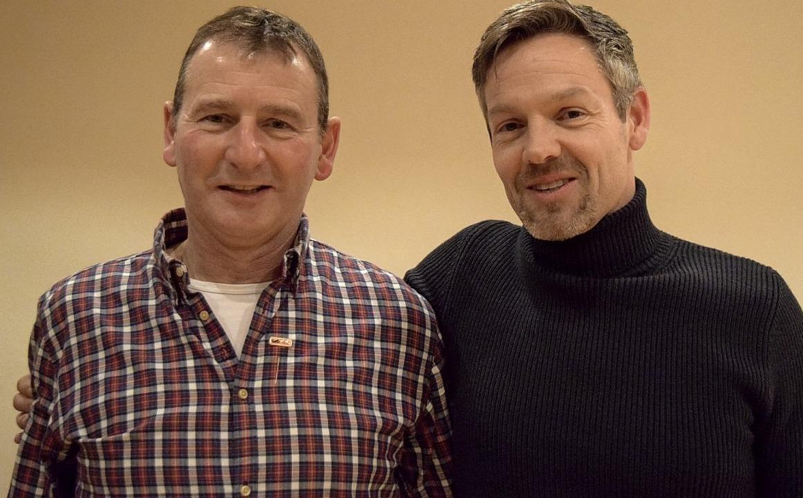 Das neue Ehrenmitglied Martin Tritschl... und Marco Wahrheit, sein Nachfolger.   | Foto: Marie Wintergerst
