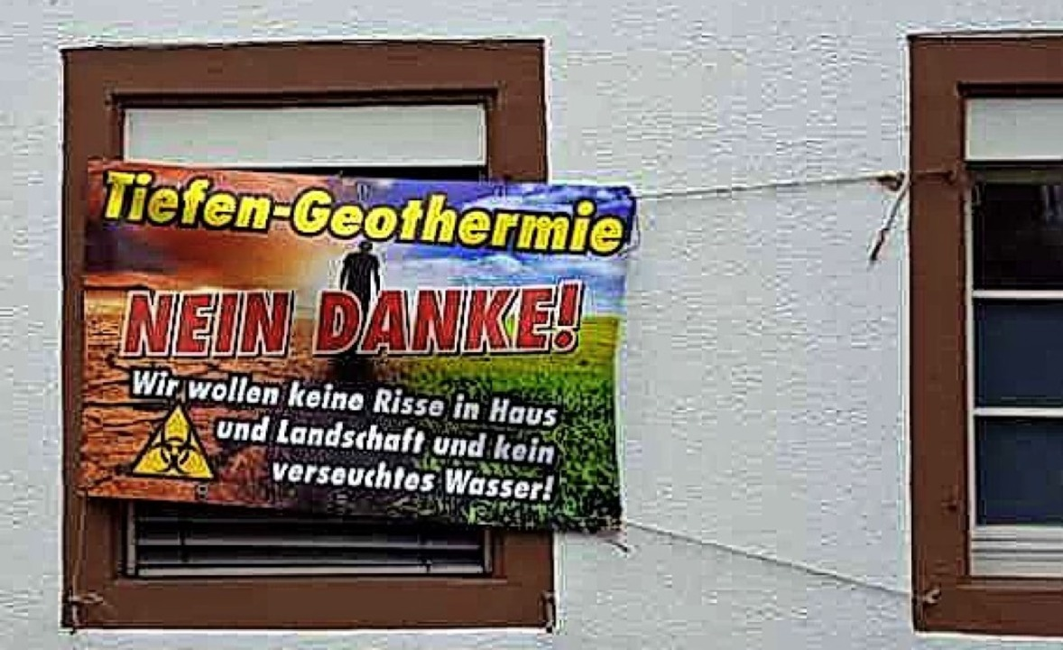 Zarter Protest in Griesheim, ein zweites Plakat soll folgen    Foto: VGB