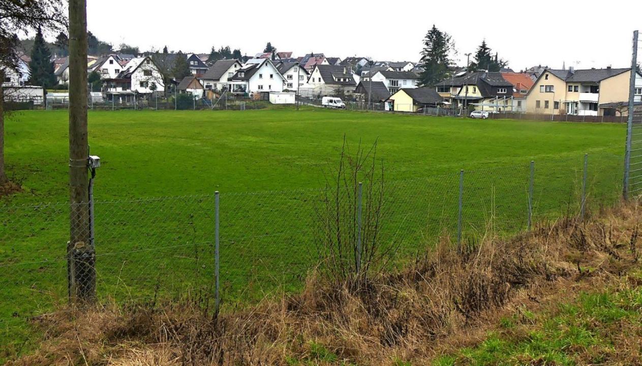 Auf dem alten Sportplatz in Heiligenze...htanlage auf seinem neuen Sportplatz.   | Foto: Reiner Beschorner
