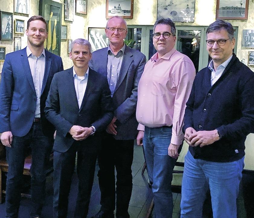 Unter der Leitung des Kreisvorsitzende...eth und Michael Herbstritt (von links)    Foto: CDU Müllheim