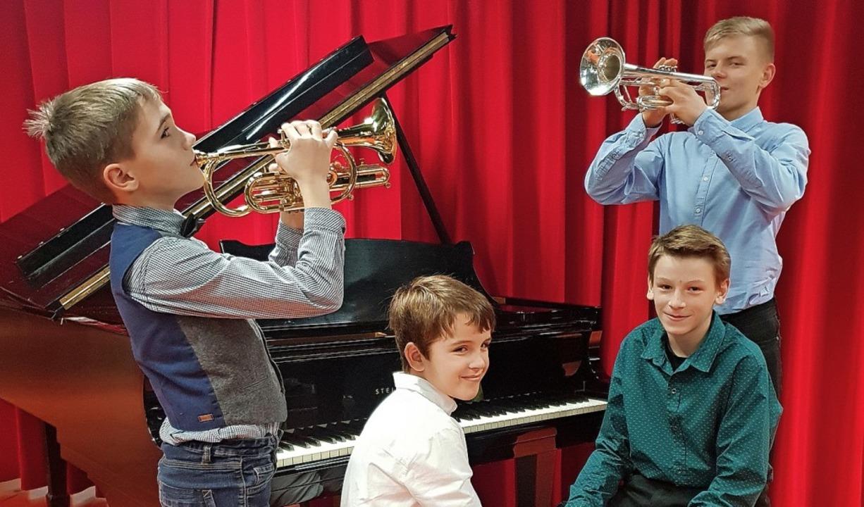 "Junge Talente bei ""Jugend musizi...ammet, Maxim Walz und  Lennart Menze    | Foto: Ute Menze"