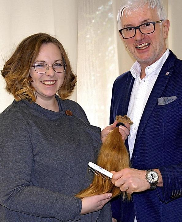 Patrizia Rufle – mit neuer Frisur – und Thomas Vetterlein  | Foto: Leony Stabla