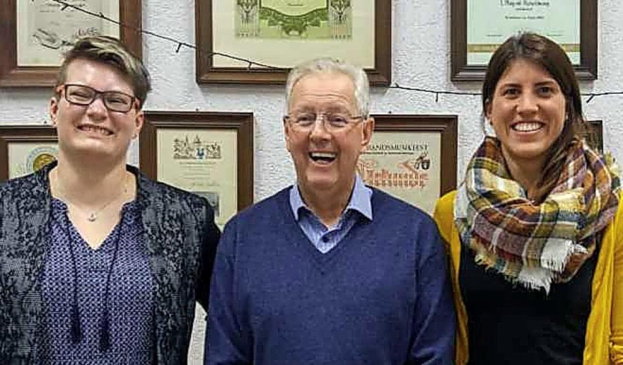 Neugewählte Vorstandsmitglieder (von l...Wörner, Rolf Schmidt und Yvonne Vogt.   | Foto: Musikverein Bernau