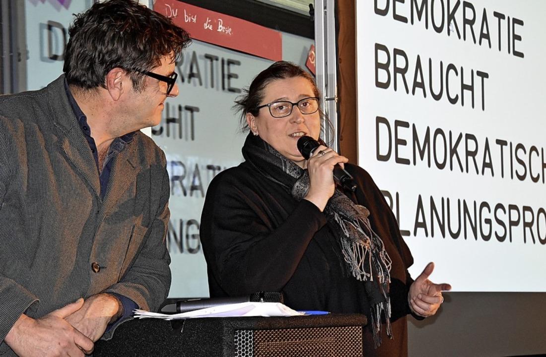Gemeinsam für das neue Herz von Bromba...fer und Ortsvorsteherin Silke Herzog.   | Foto: Kathrin Ganter