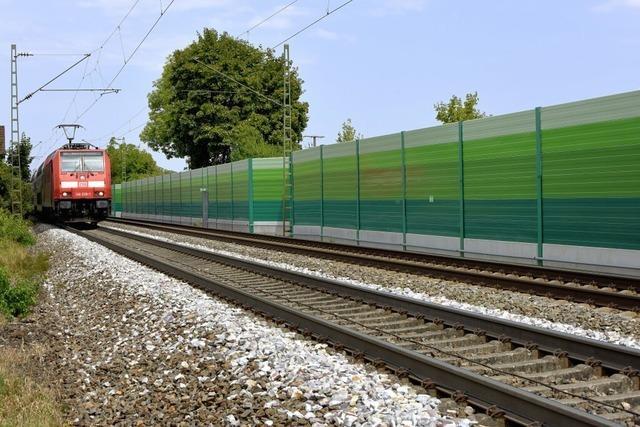 Rheintalbahn: Lärmschutz für morgen mit Technik von gestern