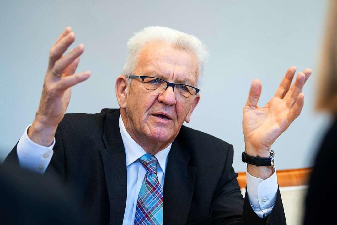Ministerpräsident Winfried Kretschmann    Foto: dpa