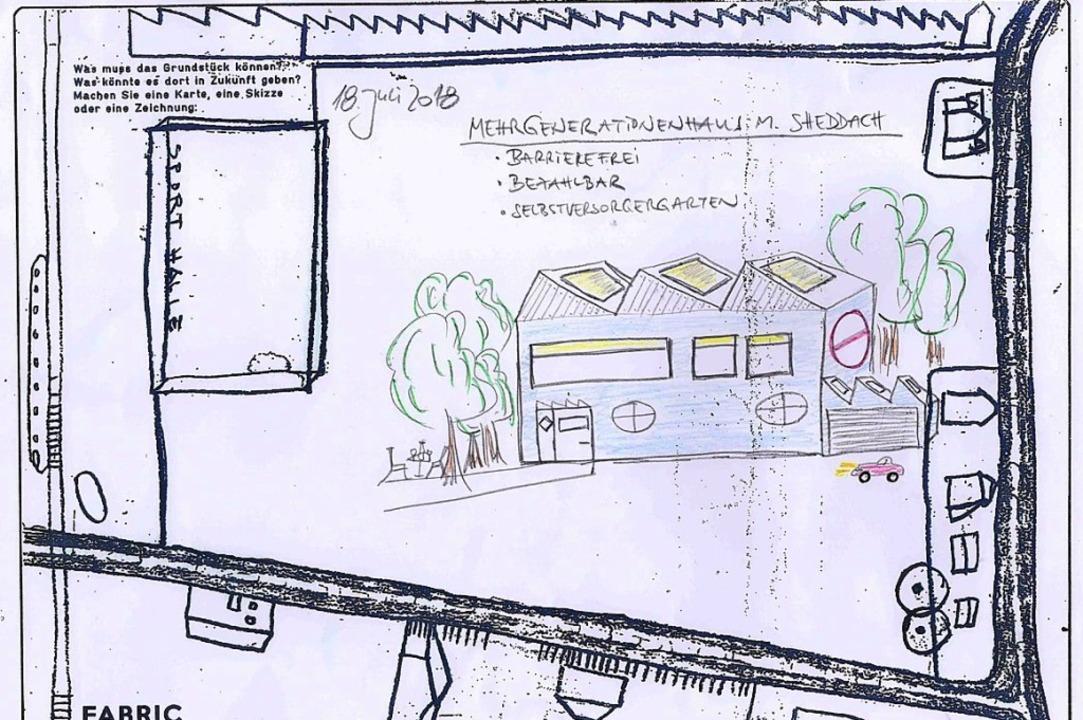 So unterschiedlich die Skizzen mit Ide... Bedürfnisse vor Ort erfragen wollten.  | Foto: Fotos: zvg