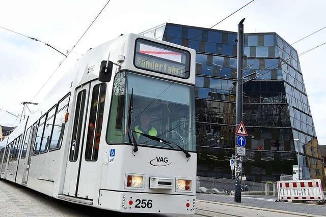 Die Freiburger Verkehrs-AG testet die neue Rottecklinie