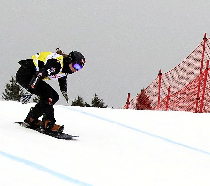 Dynamisch am Seebuck: Jana Fischer vom...dcross-Weltcup am Samstag auf Rang 16.  | Foto: scheu (2) Hanne (2)