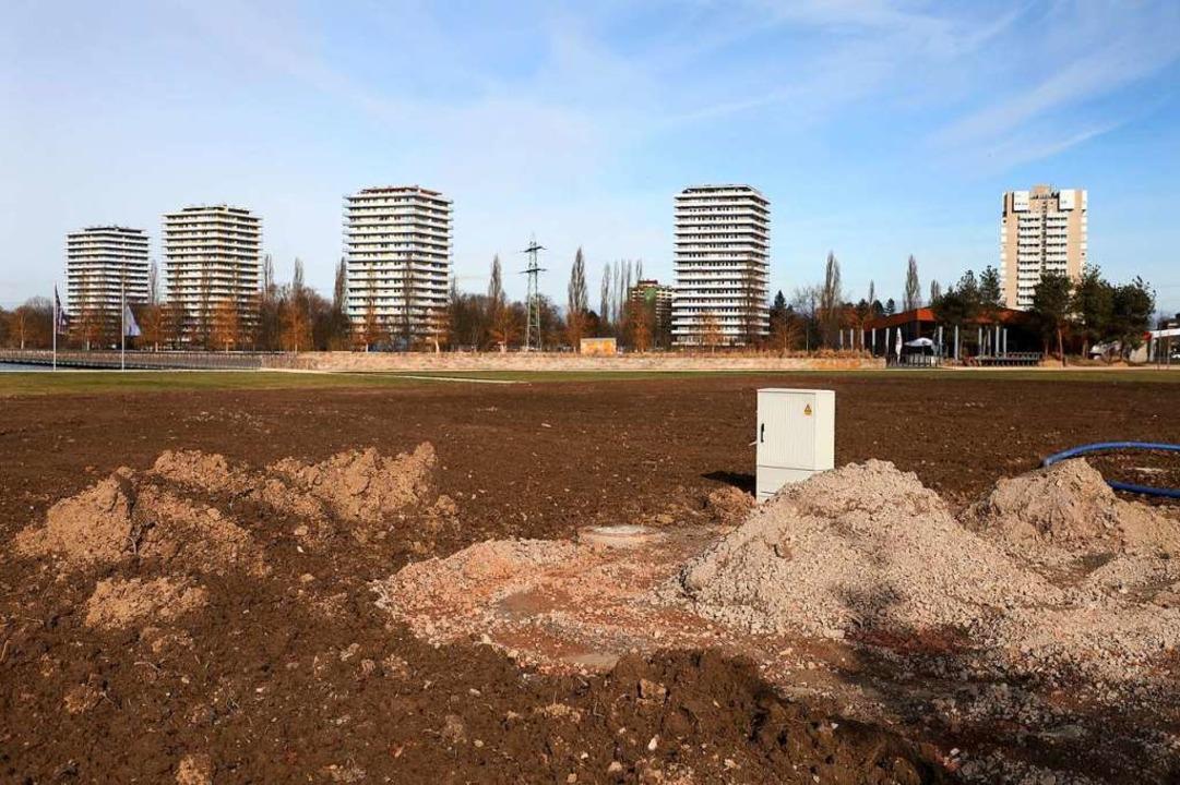 Dort, wo im Seepark einst die Bühne st...elleicht wieder Veranstaltungen geben.  | Foto: Christoph Breithaupt