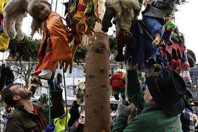 Der Weihnachtsbaum ist gut recycelt