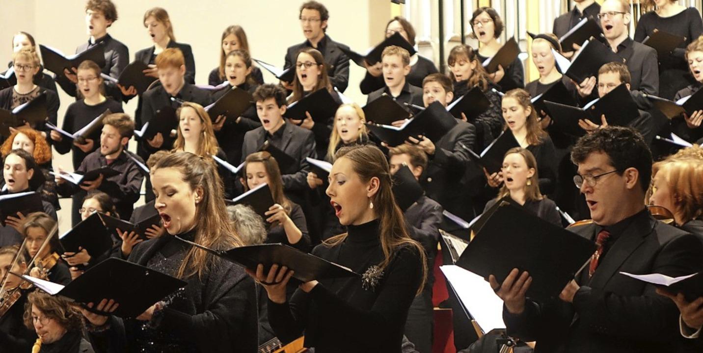 Die Evangelische Studentenkantorei Fre...lichen Werken von Jan Dismas Zelenka.   | Foto: roswitha frey