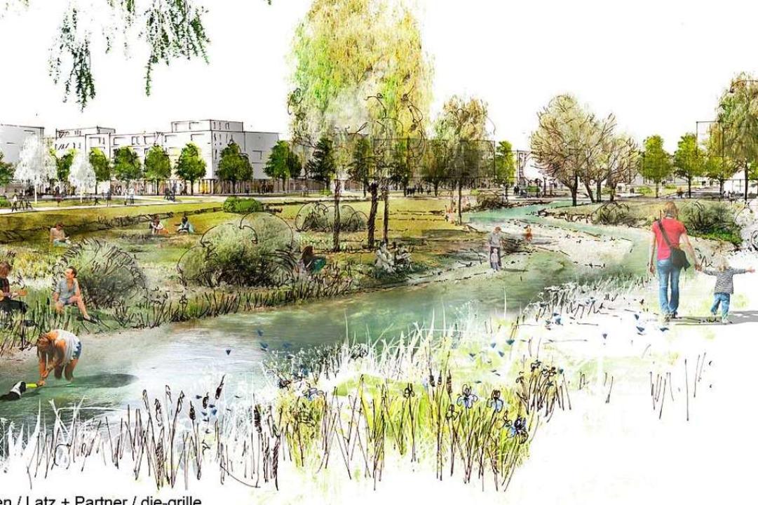 Ein klimaneutraler Stadtteil mit viel ...wurf der Stadtteil gebaut werden soll.  | Foto: K9 ARCHITEKTEN  GmbH
