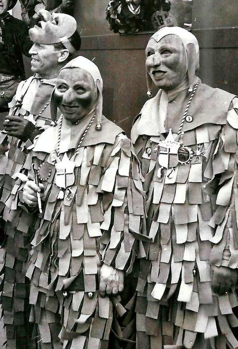 Die ersten Masken nach der Wiedergründung im Jahre 1947.  | Foto: Archiv Hans Sigmund