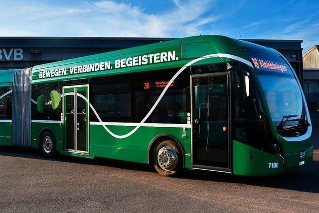 Bis 2027 wollen die Basler Verkehrs-Betriebe komplett auf Elektrobusse umstellen
