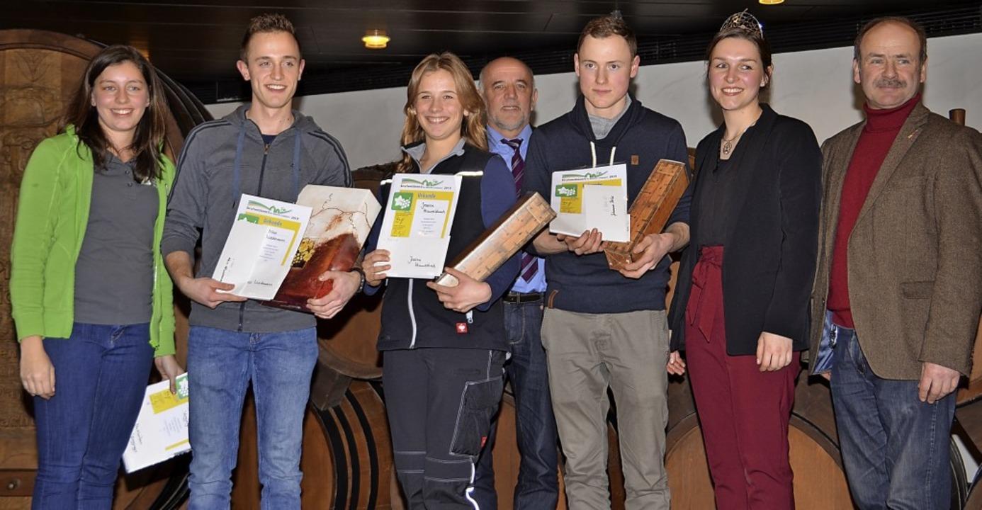 Beim Berufswettbewerb der Deutschen La...eher, Katrin Schmidt und  Franz Benz.   | Foto: Hans-Jochen Voigt