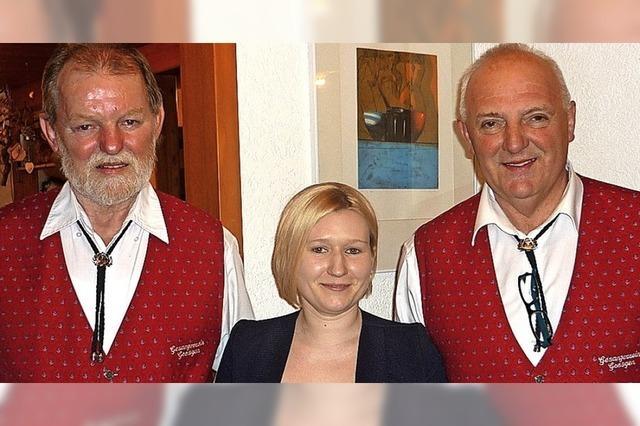 Klaus Berger an der Spitze des Gesangvereins Gresgen