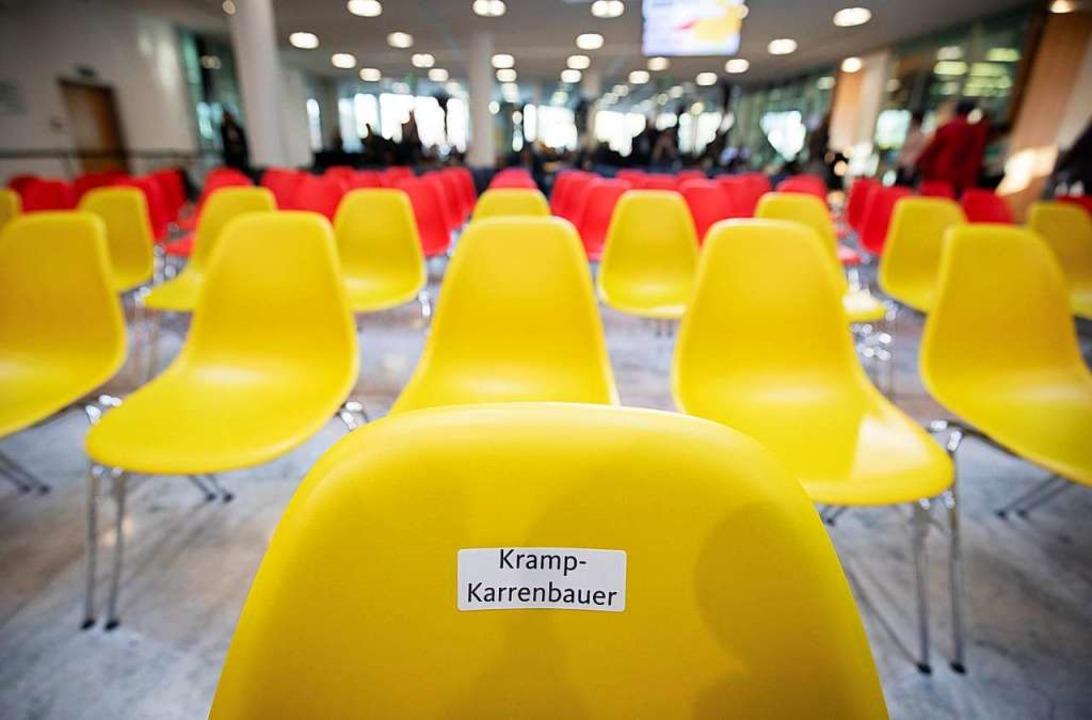 """In den Farben Deutschlands waren die S...;Werkstattgesprächen"""" gehalten.     Foto: DPA"""