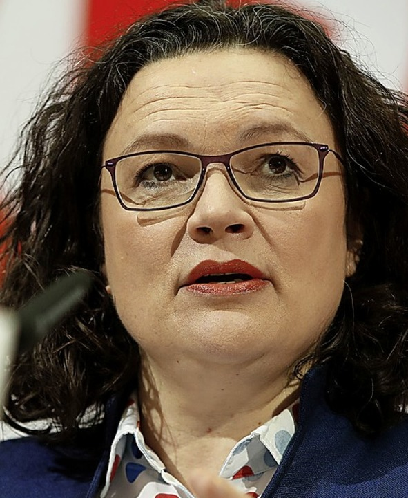 SPD-Chefin Andrea Nahles  | Foto: AFP