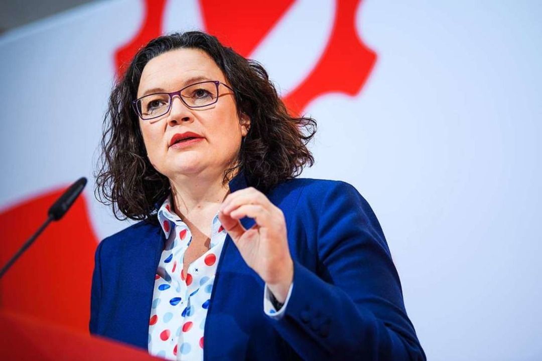 SPD-Chefin Andrea Nahles  | Foto: dpa