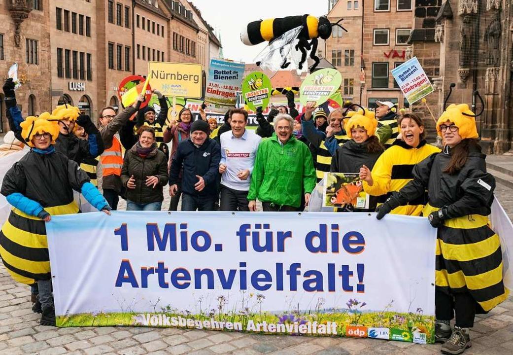 Machen Werbung für ihre Initiative Agn...und Richard Mergner (Bund Naturschutz)  | Foto: DPA