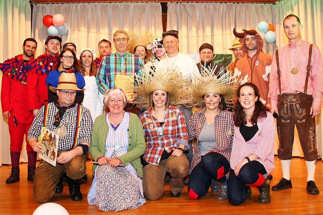 Viel zu lachen gab es beim Kappenabend...en Brandbach. Motto: Auf dem Bauernhof  | Foto: NZT