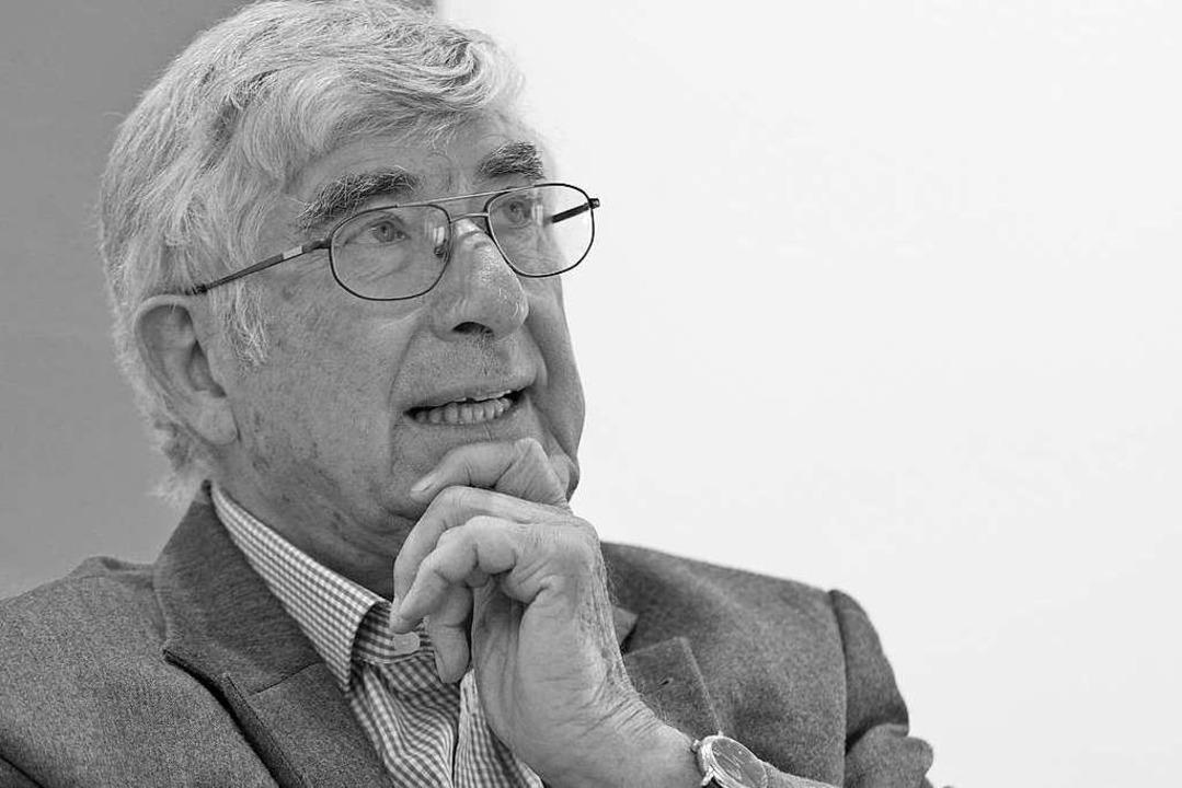 Rolf Böhme im Jahr 2014.  | Foto: Michael Bamberger