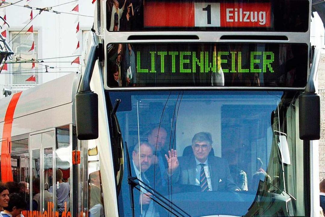 Ein weiteres Herzensprojekt: Die Freib...r Fahrerkabine einer Tram der Linie 1.  | Foto: Ingo Schneider