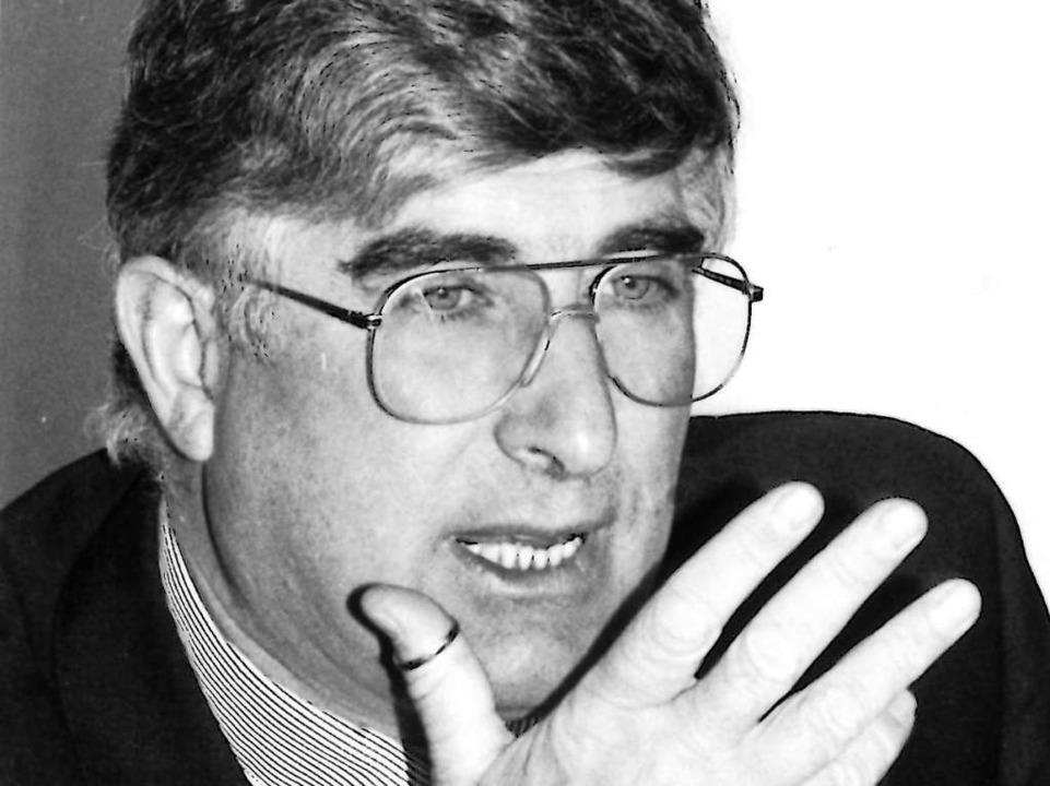 Rolf Böhme im BZ-Interview 1992    Foto: Heinz Wurzer