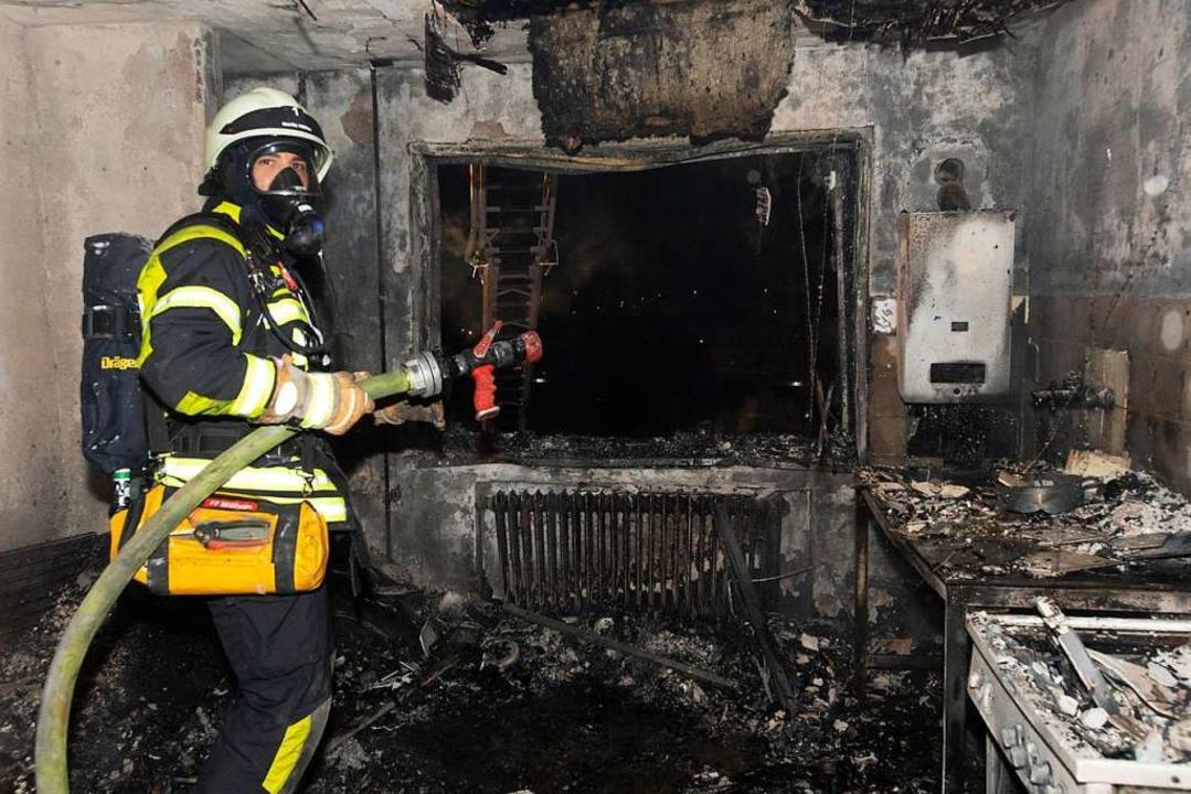 Der Brandort  | Foto: Volker Münch