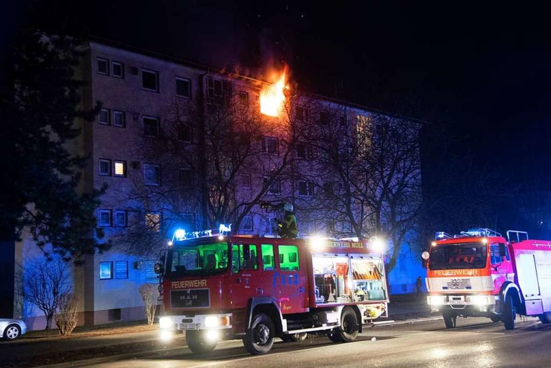 Feuer in Müllheimer Wohnung  | Foto: Volker Münch