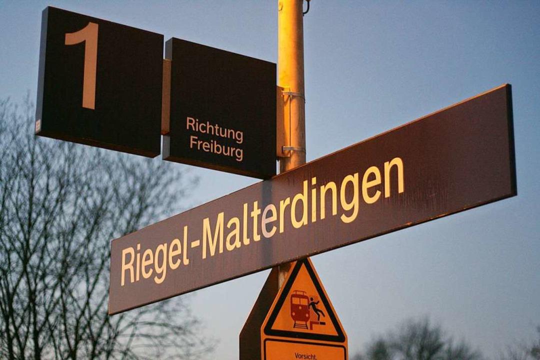 Treffpunkt: Der Bahnhof in Malterdingen.    Foto: Martin Wendel