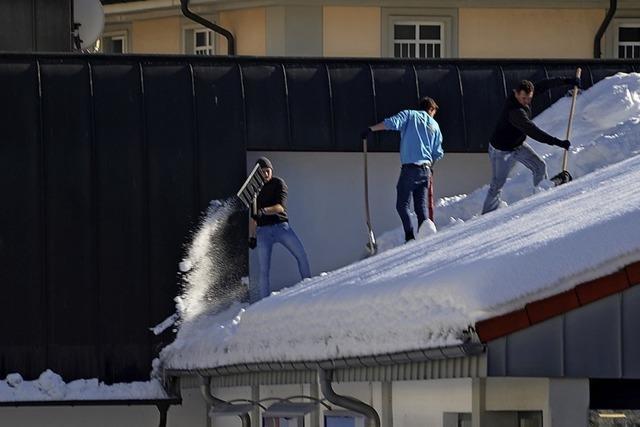 Viel Gewicht auf dem Dach