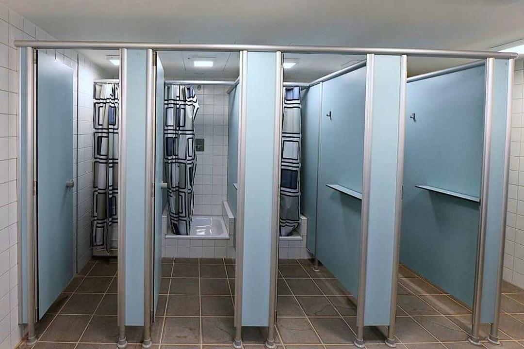 So sehen die sanitären Einrichtungen i...staufnahmeeinrichtung in Freiburg aus.  | Foto: Ingo Schneider
