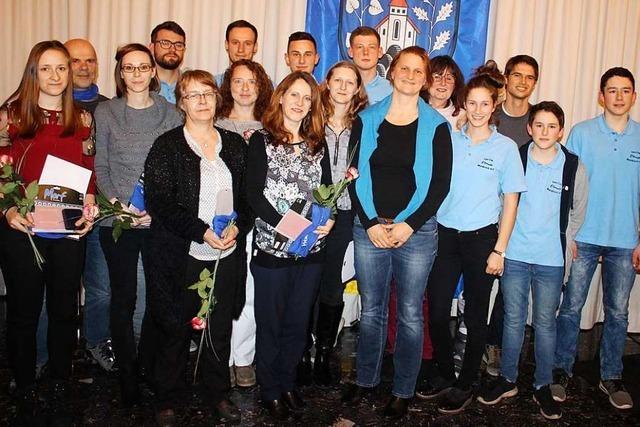 Die Stadt Waldkirch ehrt ihre Spitzensportler