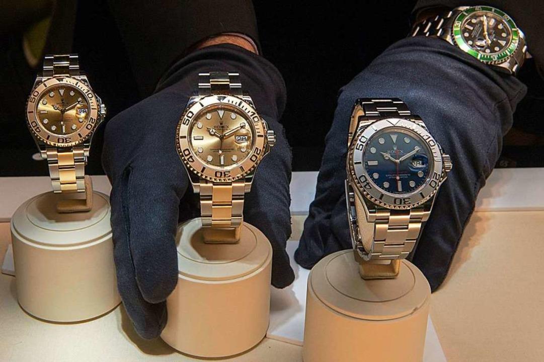 Wertvolle Uhren wurden am 3. Februar in Titisee gestohlen. (Symbolbild)  | Foto: dpa