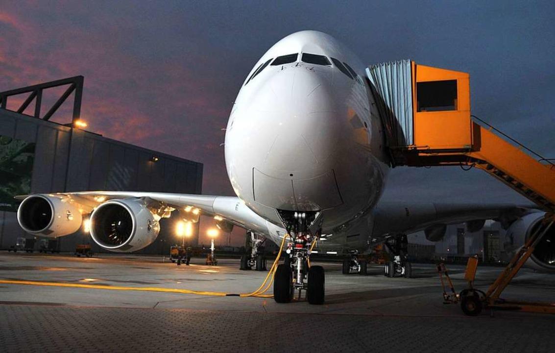 Der A380 ist das größte Passagierflugzeug der Welt.    Foto: AFP