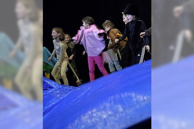 Kindertheatergrupp von Tempus Fugit zeigt in Lörrach